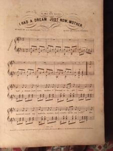 I Had a Dream sheet music